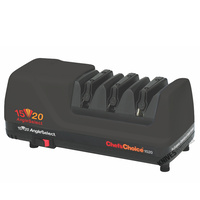 NEW CHEF'S CHOICE CC1520 BLACK ELECTRIC DIAMOND HONE KNIFE SHARPENER ANGLESELECT