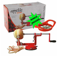 Apple Slinky Machine Maker AND *BONUS* Apple Wedger Corer Peeler Slicer Cutter