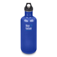 KLEAN KANTEEN 40oz 1182ml COASTAL WATERS BLUE BPA FREE Water Bottle SAVE !