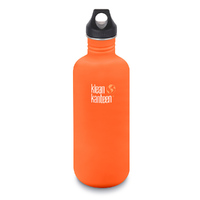KLEAN KANTEEN 40oz 1182ml ORANGE SIERRA SUNSET BPA FREE Water Bottle SAVE !