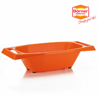 New BORNER Slice & Serve BOWL Tray Slicer Mandolin - Orange