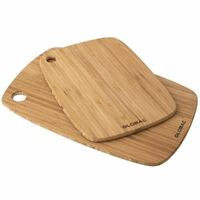 New Global 2pc Tri-ply Bamboo Utility Board Set Kitchen Chopping 2 Piece