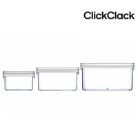 New CLICKCLACK 3 Piece Basic Small Box Set Air Tight Containers 3pc