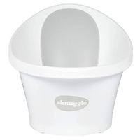 Shnuggle Baby Bath w/ Backrest & Bum Bump Support & Plug ,  White