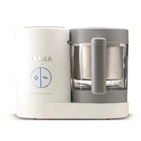 New BEABA Babycook Baby Food Processor Neo WHITE & GREY Steam Cook Blend