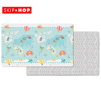New Skip Hop Doubleplay Reversible Kids Baby Play Mat , Little Travellers
