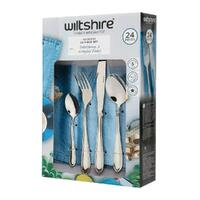 New WILTSHIRE HARMONY 24 Piece Stainless Steel 24pc Cutlery Set