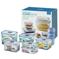 Lock & Lock 8 Piece Classic Plastic Airtight Food Storage Containers 8pc