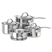 Chasseur Le Cuivre Stainless Steel 4pc Cookware Set - Saucepan Steamer Induction