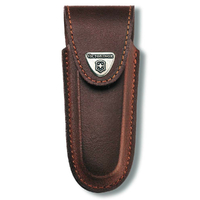New Victorinox Swiss Army Brown Leather Sheath 4 - 6 Layers for Lockblades 4.0538
