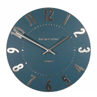 New Thomas Kent Mulberry Arabic Midnight Blue 30cm Wall Clock