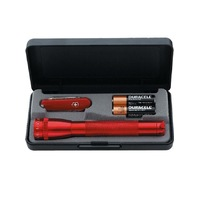 MAGLITE 2AA FLASHLIGHT RED + SWISS ARMY KNIFE VINTAGE FREE POSTAGE 85960