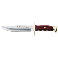 New Muela Bowie 18 Fishing Hunting Knife , Coral Wood Handle