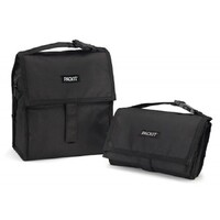 PACKIT PERSONAL COOLER LUNCH BAG FREEZE AND GO -  BLACK PACK IT USA DESIGN