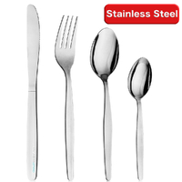 New 48 Piece OSLO Cutlery Dining Set Stainless Steel 48pc Knife Fork Knife Spoon Cafe