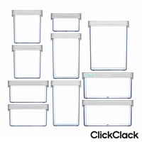 CLICKCLACK 10 Piece Basics Starter Pack Air Tight Containers 10pc