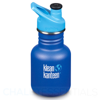 KLEAN KANTEEN KID 355ml 12 oz SPORTS SURFS UP BLUE BPA FREE Water Bottle SAVE !