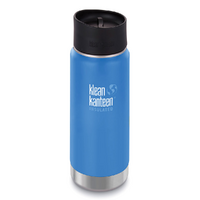 NEW KLEAN KANTEEN 473ml 16oz INSULATED WIDE PACIFIC SKY BLUE Water Soup Coffee Tea Bottle