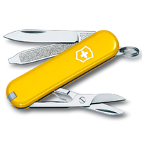 New Victorinox SWISS ARMY SD YELLOW Classic Knife Multi Tool