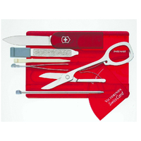 Victorinox SWISS ARMY Swisscard CYBER RUBY RED Knife Card Multi Tool