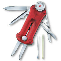 New Victorinox Swiss Army Knife Sport Golf Tool Marker Divot Repair , RED