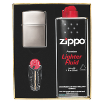 NEW ZIPPO BLACK ICE LIGHTER GIFT BOX WITH FLUIDS + FLINTS FREE POSTAGE 90218GP