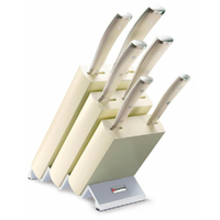 New Wusthof Ikon Classic 7pc Knife Block Set , Creme 9877W , Made in Germany