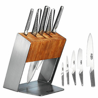 JAPANESE KATANA Global 6 Pc Knife Block Set PLUS MINO knife sharpener BNIB