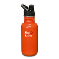 KLEAN KANTEEN Original 18oz 532ml FLAME ORANGE BPA Free Water Bottle