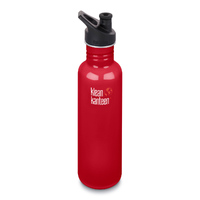 KLEAN KANTEEN 27oz 800ml MINERAL RED BPA FREE WATER BOTTLE