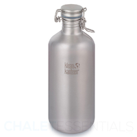 KLEAN KANTEEN GROWLER 64oz 1900ML SWIG LOK CAP WATER BOTTLE - STAINLESS