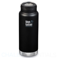 KLEAN KANTEEN TKWIDE INSULATED 32oz 946ml SHALE BLACK BPA FREE Water Bottle