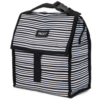 NEW PACKIT PERSONAL COOLER LUNCH BAG FREEZE AND GO - WOBBLY STRIPE PACK IT USA DESIGN