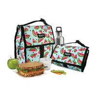 NEW PACKIT PERSONAL COOLER LUNCH BAG FREEZE AND GO - WATERMELON PARTY PACK IT USA DESIGN