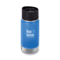 NEW KLEAN KANTEEN INSULATED WIDE 12oz 355ml PACIFIC SKY BLUE Water Coffee Tea Soup