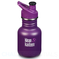 KLEAN KANTEEN KID 355ml 12oz 12 oz  SPORTS CAP WATER BOTTLE - SUGAR PLUM PURPLE