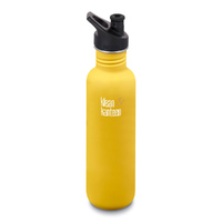 KLEAN KANTEEN THE ORIGINAL 800ml 27oz BPA FREE WATER BOTTLE - LEMON CURRY YELLOW