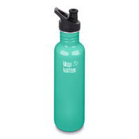 KLEAN KANTEEN THE ORIGINAL 800ml 27oz BPA FREE WATER BOTTLE - SEA CREST AQUA