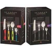 Scanpan 24pc Spectrum Soft Touch Cutlery Set 24 Piece - Select Grey or Colour