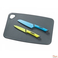 New SCANPAN Spectrum 3 Piece Kitchen Cutting Board + Knife Set 18737 Free Postage