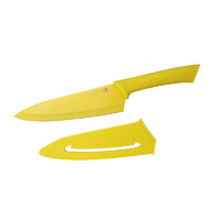 SCANPAN SPECTRUM SOFT TOUCH COOKS KNIFE W/ SHEATH 18CM - YELLOW BRAND NEW SAVE