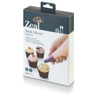 Cake Decorating Simply Silicone ZEAL Piping Set 5 Nozzles AND Icing Bag