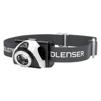 New LED LENSER SEO 5 Head Torch Lightweight Headlamp SEO5 - GREY 180 Lumens