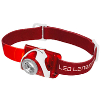 New LED LENSER SEO 5 Head Torch Lightweight Headlamp SEO5 - RED 180 Lumens