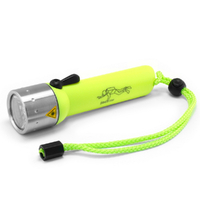 Led Lenser D14.2 Frogman 60m Flashlight 400 Lumen Dive Torch High Visibility - Yellow