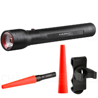 New LED LENSER P17 Torch Flashlight 1000 Lumens & Clip & Signal Cone