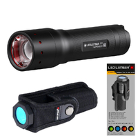 New LED LENSER P7 Torch Flashlight 450 Lumens & Intelligent Filter