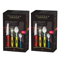 SCANPAN Spectrum 32pc Kitchen Cutlery Set COLOUR 32 Piece 18843 Free Post