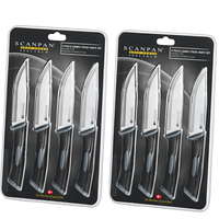 NEW Scanpan Spectrum 8pc JUMBO Steak Knife Set Black Stainless Steel 8 Piece Black