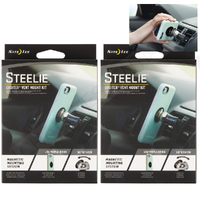 2 X Nite Ize Steelie ORBITER VENT 2 Pack Mount Kit Magnetic Phone Mount System
